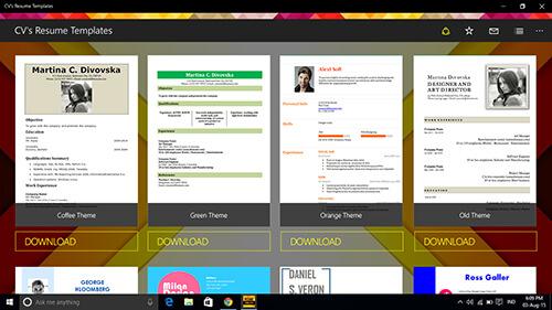 cvs-resume-templates 2