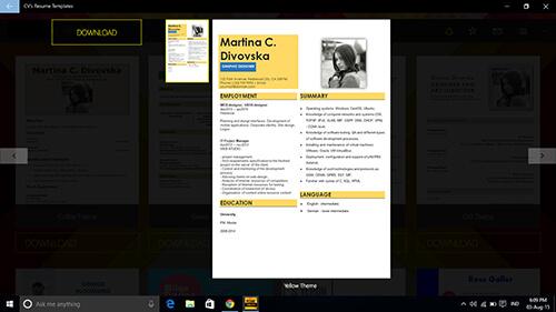 cvs-resume-templates 3