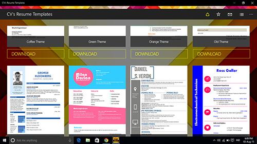 cvs-resume-templates 4