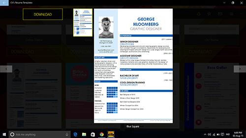 cvs-resume-templates 5
